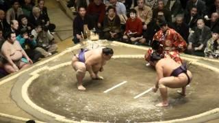 20110109 大相撲初場所 初日 魁皇vs栃煌山.
