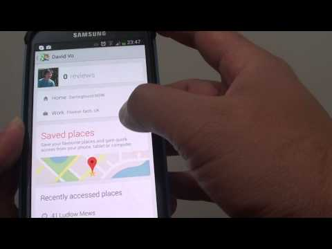 Samsung Galaxy S4: Add Home/Work Address to Favorite on Google Maps