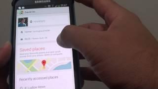 Samsung Galaxy S4: Add Home/Work Address to Favorite on Google Maps Free HD Video