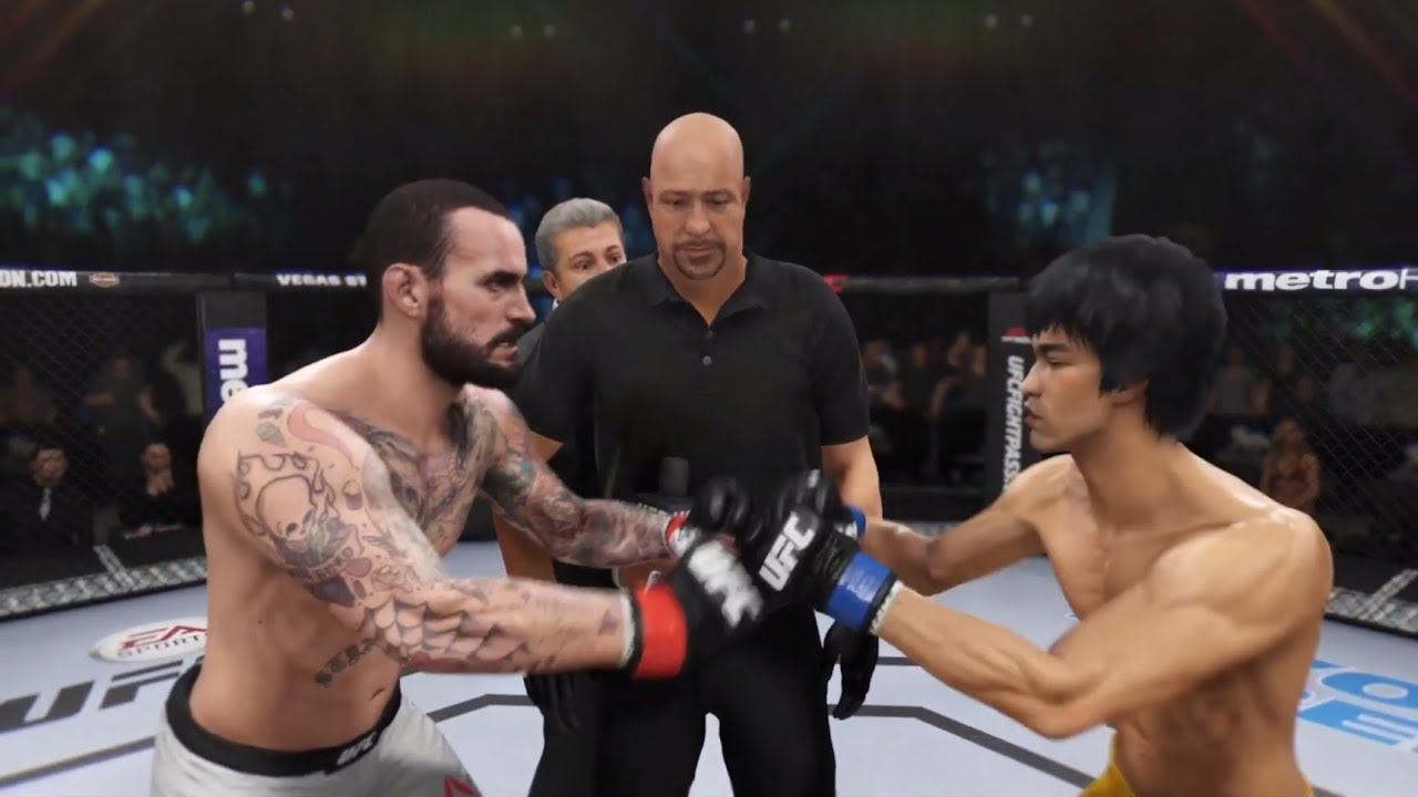 CM Punk vs. Bruce Lee (EA sports UFC 3)