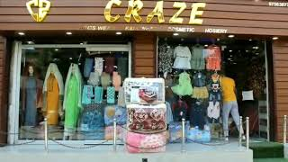 CRAZE  Ladies wear, kids wear, cosmetic, Hosiery available on discount rates.  Kathi darwaza near Ce