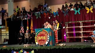 SFIS GRADUATION CEREMONY 2019 –  Presentation of class gift to Ashlyn Lovato  Santa Clara Pueblo