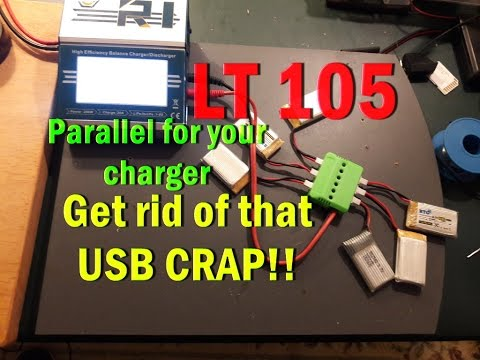 LT105 X6 Battery Charger DIY Hack USB charger into parallel board for your charger