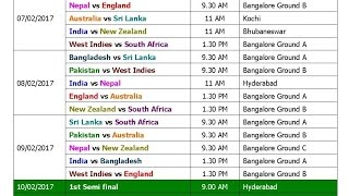 Video T20 World Cup 2017 Schedule & Time Table (Blind) download MP3, 3GP, MP4, WEBM, AVI, FLV Oktober 2017