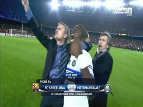 MOURINHO INTER MILAN KNOCKS OUT FC BARCELONA SEMI FINAL 2010
