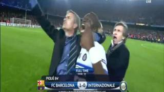 MOURINHO INTER MILAN KNOCKS OUT FC BARCELONA SEMI FINAL 2010
