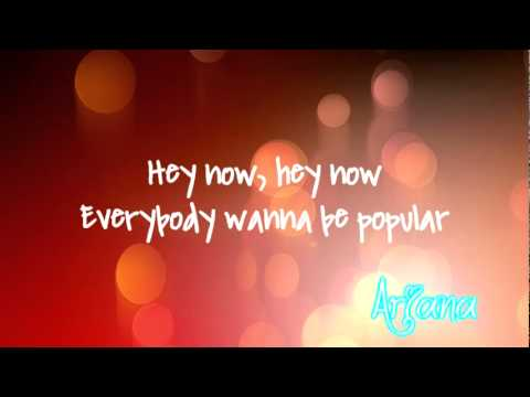 The Perfs || Everybody wanna Be Popular {LYRIC VERISON}