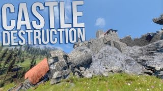 Medieval Engineers - Castle Destruction Showcase - Structural Integrity Overview