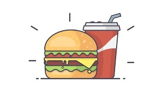 Illustrator Tutorial : Burger Time Line Art