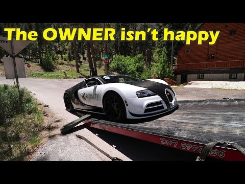 I drove a $2Million Bugatti Veyron and I BROKE IT