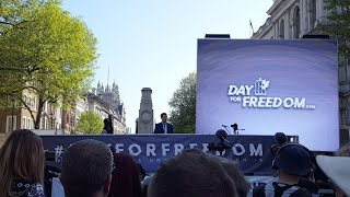 Gerard, Leader Of UKIP At Whitehall Day For Freedom