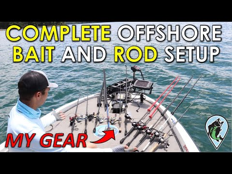 All My Offshore Baits, Rods, And Reels Explained! | Offshore Bass Fishing Setups