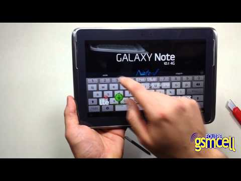 GSMCELL Tablet Samsung N8020 Galaxy Note 10.1 4G LTE,16GB Abrindo a caixa Unboxing