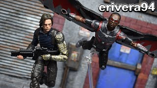 Marvel Legends FALCON & WINTER SOLDIER BUCKY Infinity War Target Exclusive 2 Pack Figure Review