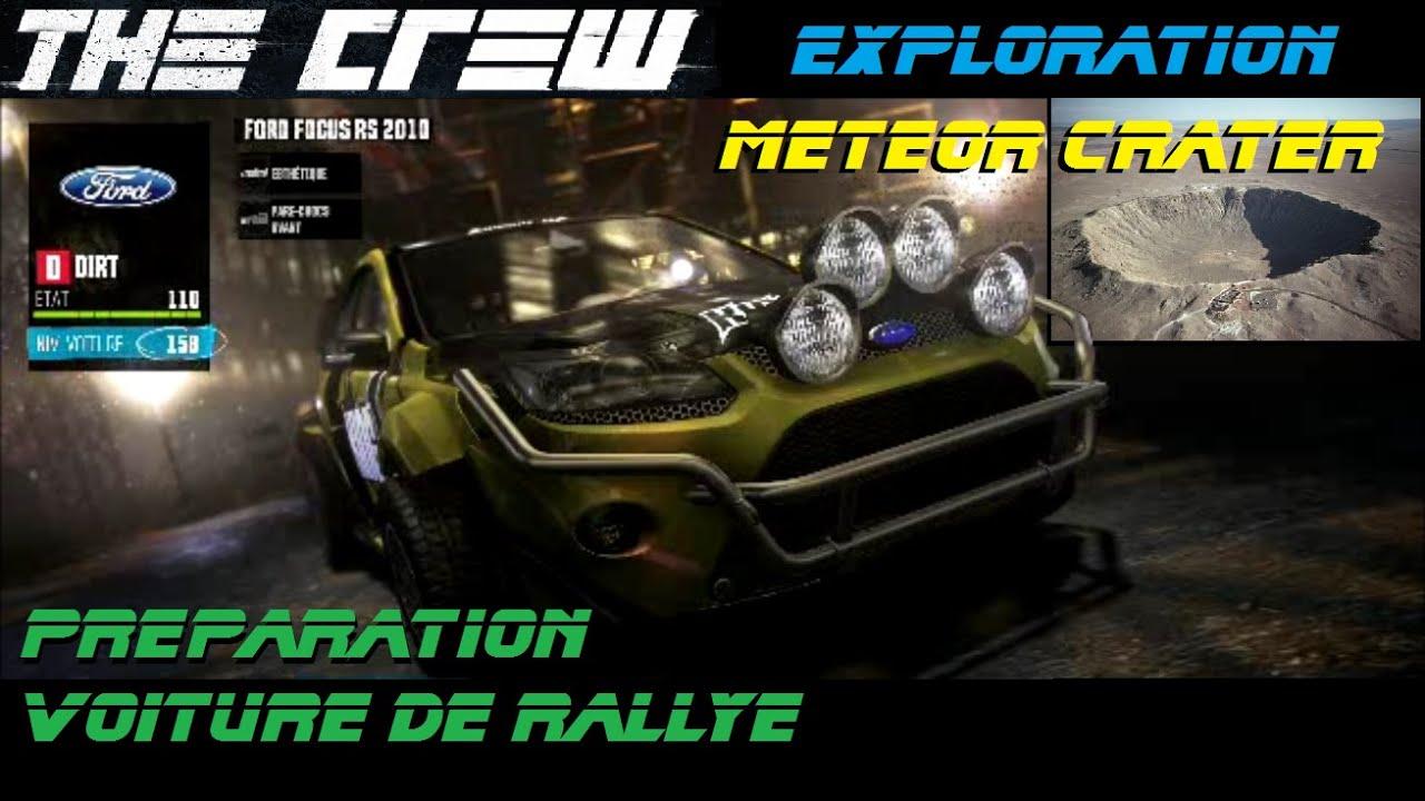 the crew pr paration voiture de rallye test au meteor crater gameplay fr hd youtube. Black Bedroom Furniture Sets. Home Design Ideas