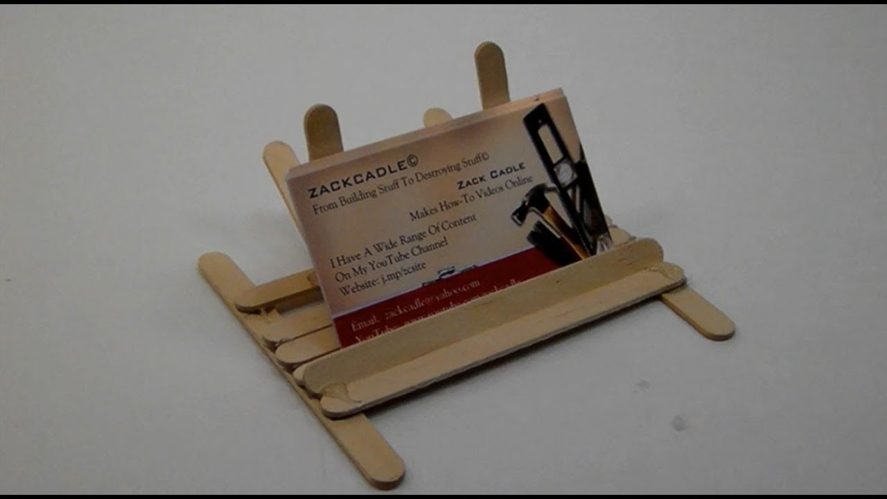 How To Make A Business Card Holder/Stand - YouTube