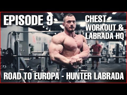 Chest Workout - Labrada HQ Visit - Episode 9: 4 Weeks to Contest - Hunter Labrada