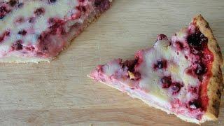 Пирог с брусникой и сметаной - пошаговый рецепт приготовления