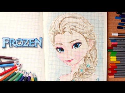 Рисую Эльзу Холодное сердце. Как рисовать Эльзу из Холодное Сердце How to drow Elsa