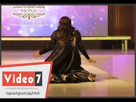 شاهد لحظة سقوط ملكة جمال العرب على المنصة