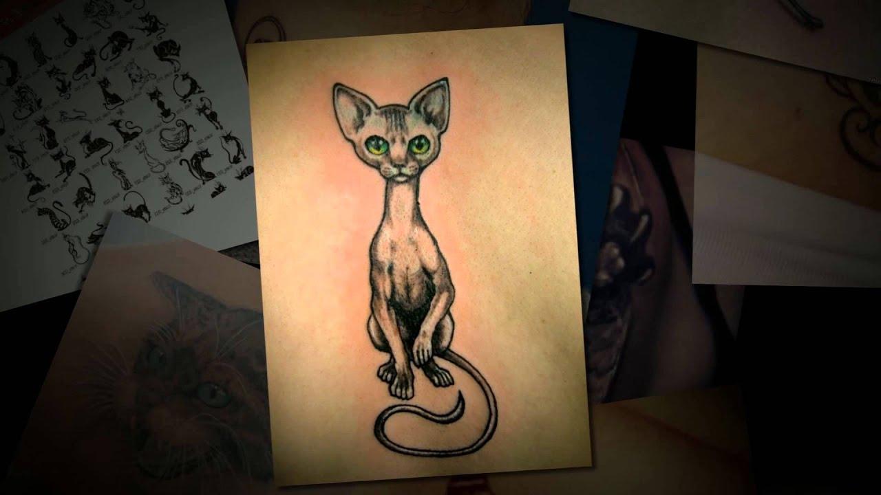 рисунки тату кошки
