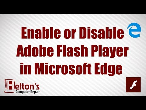 Enable Or Disable Adobe Flash Player In Microsoft Edge In Windows 10