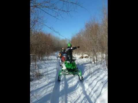Plummer Snowmobile club trip 2012 Part 1