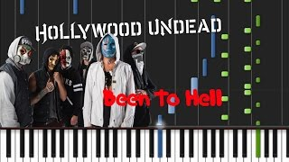 Hollywood Undead - Been To Hell [Piano Cover Tutorial] (♫)
