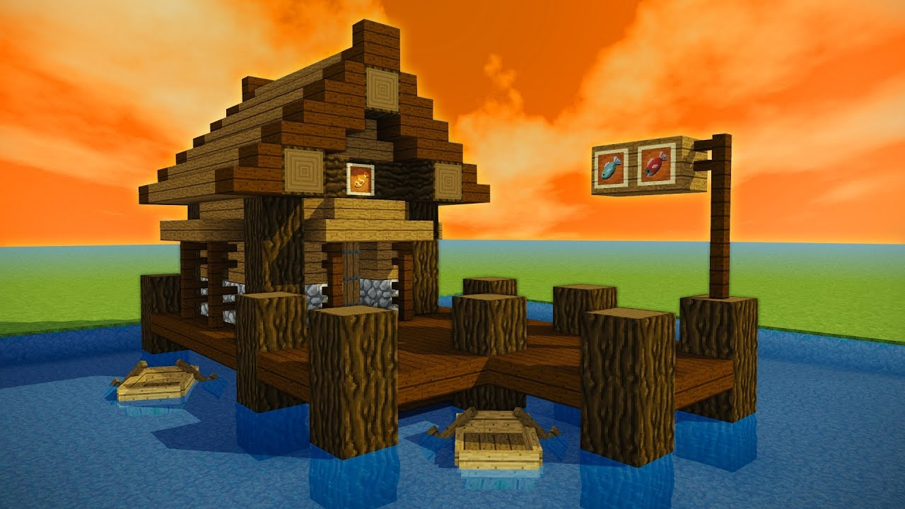 How To Make A Minecraft Fishing Shack  Hut