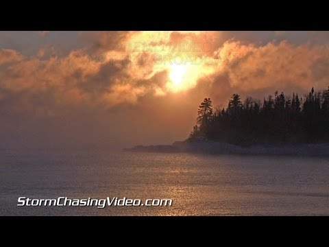 1/7/2015 Grand Marais, MN  Brutal Cold Extreme Wind Chill B-Roll