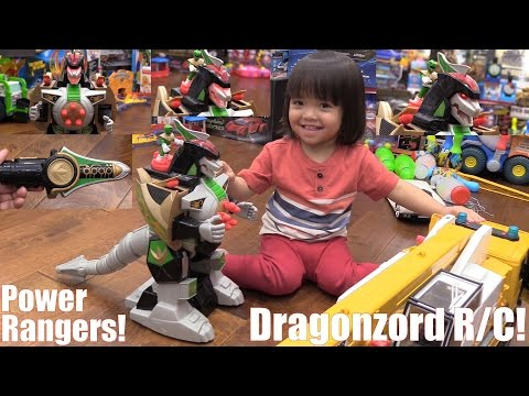 Kids' Toy Channel: Awesome Toy Robot RC! Mighty Morphin Power Rangers Dragonzord