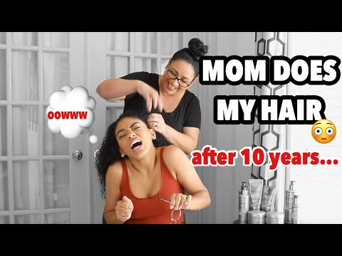 MY MOM DOES MY HAIR FOR THE FIRST TIME IN 10 YEARS!  jasmeannnn