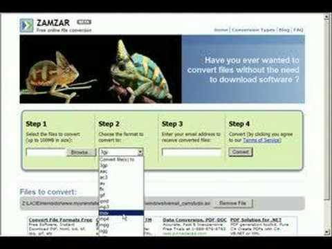 Zamzar - convert your files