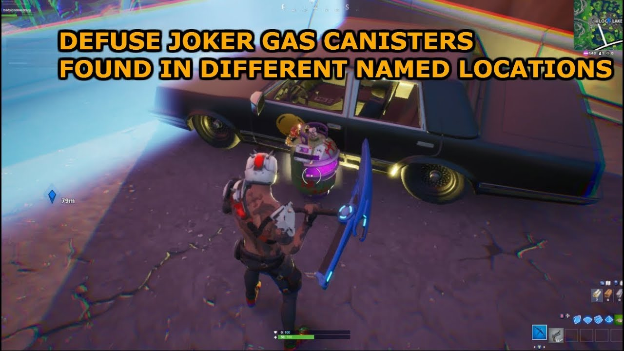 Location Defuse Joker Gas Canisters Found In Different Named Locations Fortnite Batman Season X