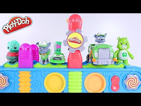 Thumbnail: Learning Colors with Play Doh Mega Fun Factory + Gumballs (Paw Patrol, Shopkins, Cars)