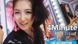 4Minute - Hot Issue (Line Distribution)