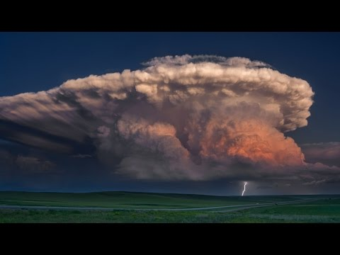 A STORM OF COLOR Time Lapse - Isolated Supercell, tornado, r