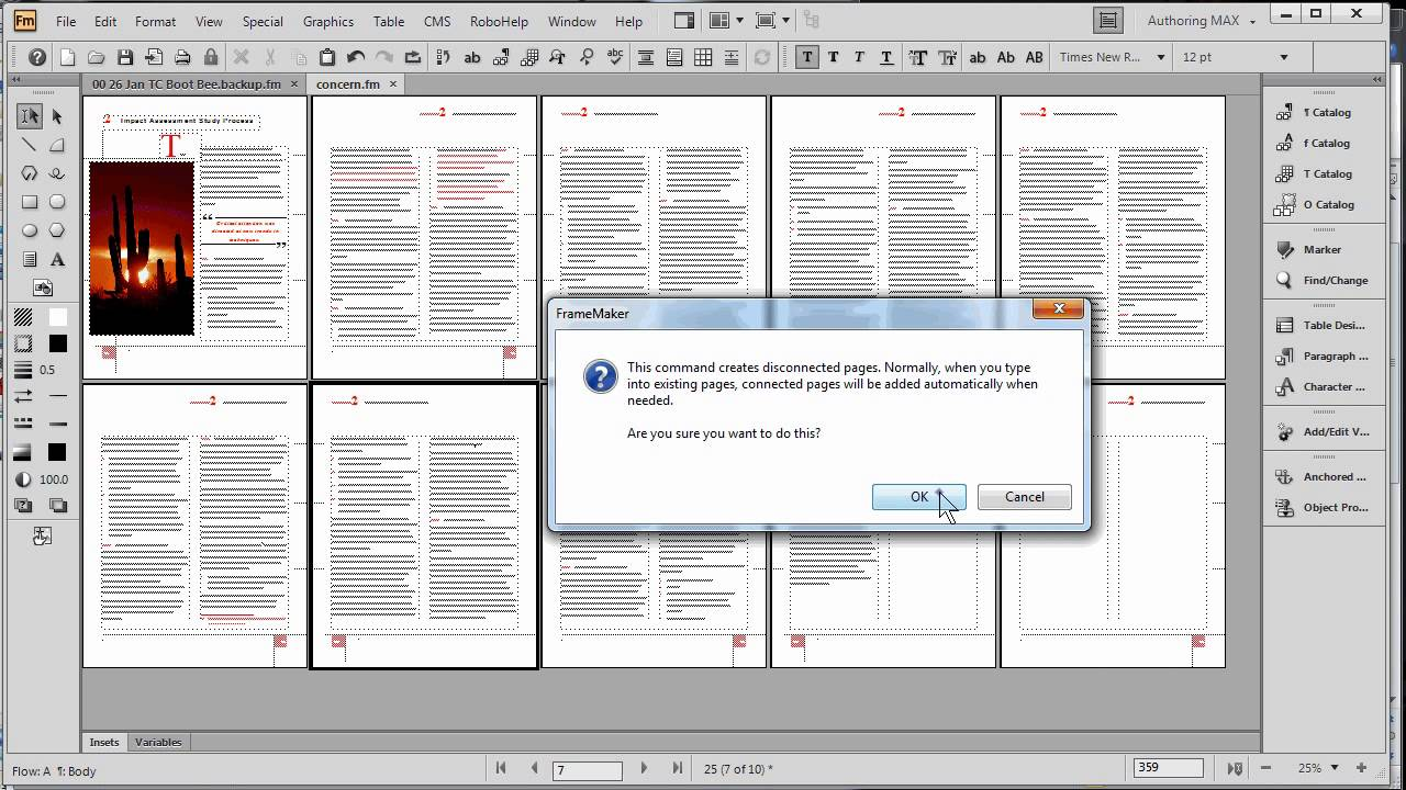 FrameMaker and Word: Page Layout and master pages - YouTube