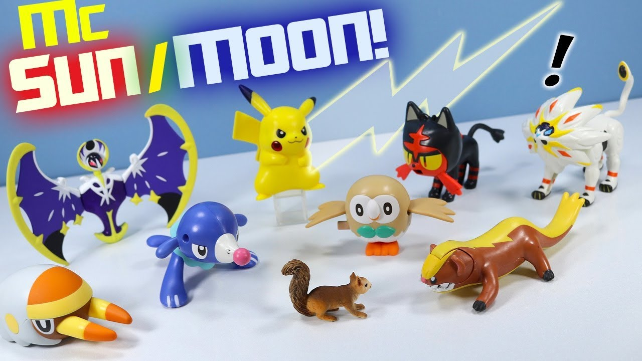 Happy Meal Pok 233 Mon Sun And Moon Mcdonalds Toys Full