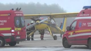 Simularea unui accident aviatic pe Aeroportul din Cluj