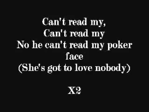 Read my poker face lyrics cotton fioc poker