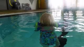 Hannah swimming in circles
