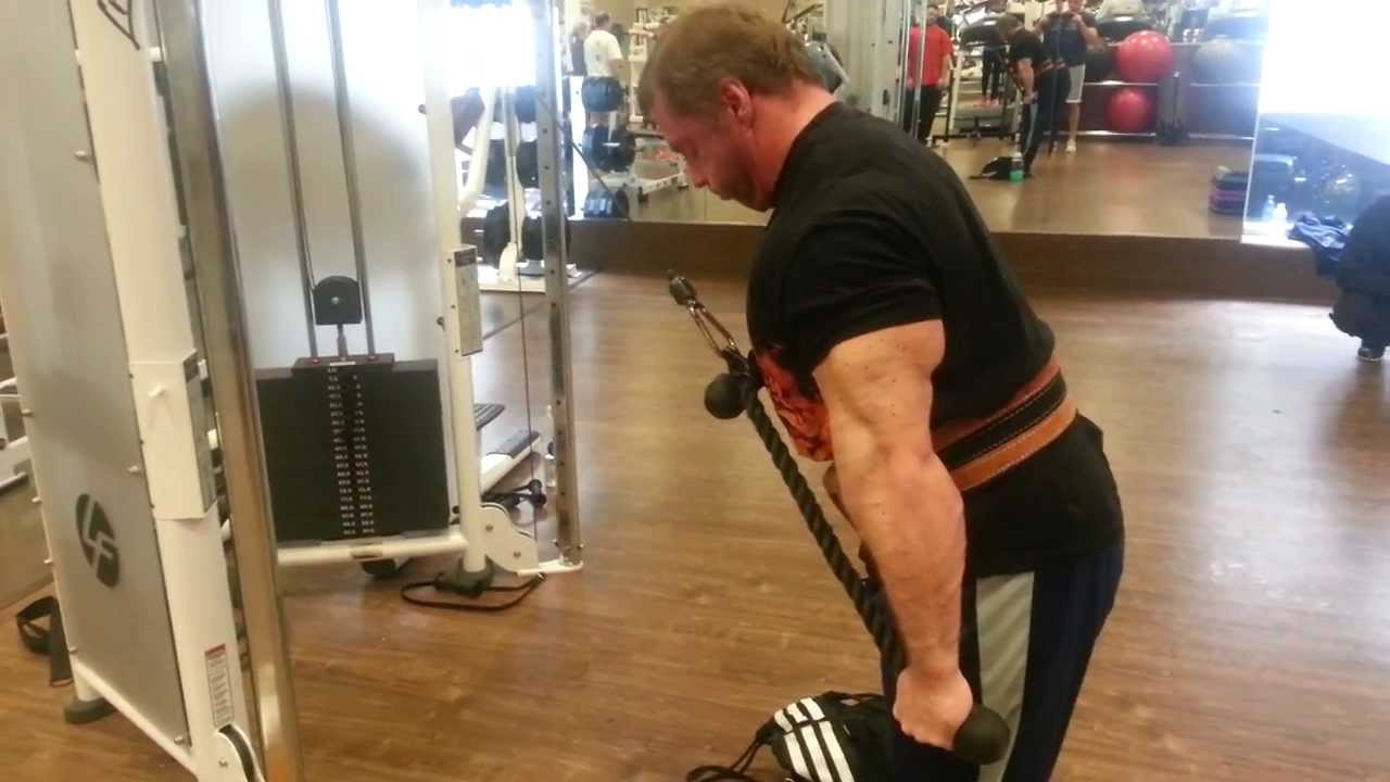 Dual rope tricep extensions - YouTube
