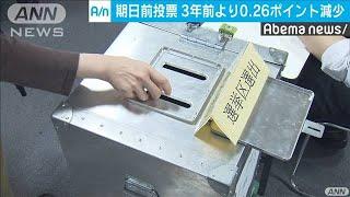 期日前投票は伸び悩み 雨続きの天候など影響  (19/07/15)