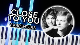 Close To You (Carpenters - Yukie Nishimura) - Synthesia piano tutorial