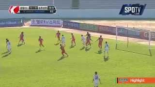 2015 K리그 챌린지 12R 강원FC vs 상주상무 하이라이트