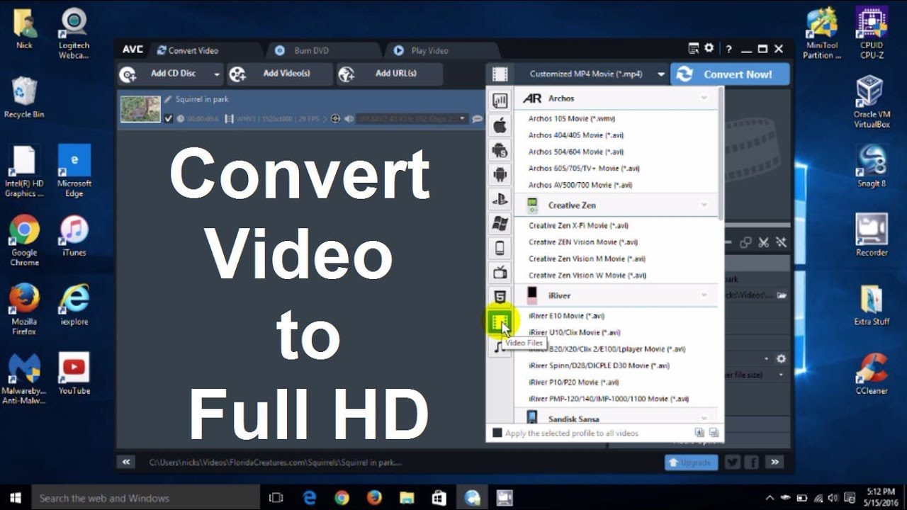 Download How to Convert Video to mp4 or How to change Video file to mp4 HD 1080p or 4K Video - Free & Fast