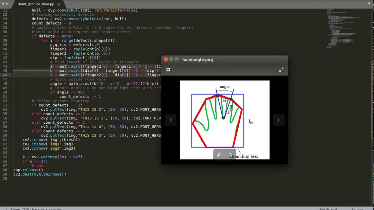 Hand Gesture Recognition using OpenCV and Python (Haar Cascade)