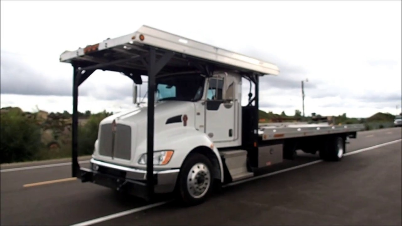 Kenworth T370 With Jerr Dan 4 Car Carrier Rollback Tow Truck For