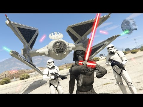GTA 5 Mods - STAR WARS KYLO REN MOD w/ LIGHTSABER!! GTA 5 Star Wars Mod! (GTA 5 Mods Gameplay)